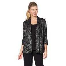 Slinky® Brand Foil-Print Jacket, Tank and Pant Set