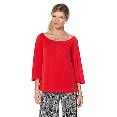 Slinky® Brand On/Off Shoulder Bell-Sleeve Tunic