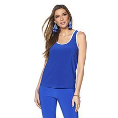 Slinky® Brand Scoop-Neck Tank with Contrast Binding