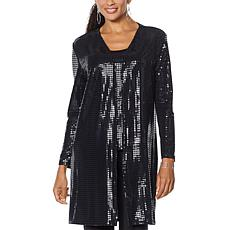 Slinky® Brand Sequin Jacket Duster