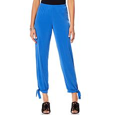 Slinky® Brand Solid Knit Harem Pant with Ankle Tie