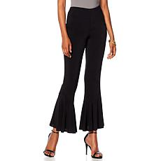 Slinky® Brand  Solid Knit Pant with Ruffle Hem