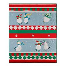Slip Sliding Snowmen Throw