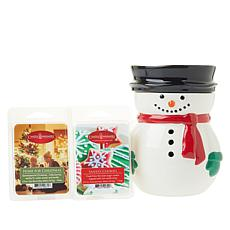 Snowman Illuminated Warmer with 2 Wax Melts