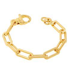 Soave Oro 14K Gold Electroform Paperclip Chain Bracelet