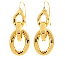 Soave Oro 14K Gold Electroform Polished Oval Drop Earrings