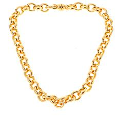 Soave Oro 14K Gold Electroform Polished Rolo Chain Necklace