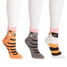 Soft & Cozy  3-pack Cat Socks