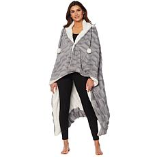 Soft & Cozy Faux Fur Hooded Throw