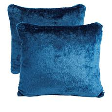 Soft & Cozy Faux Fur Pillow 2-pack