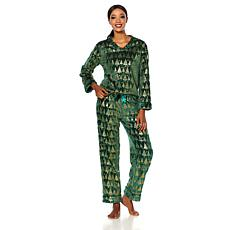 Soft & Cozy Loungewear Holiday V-Neck Pajama Set