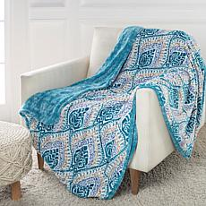 Soft & Cozy Printed Plush Sherpa Reverse Throw
