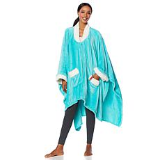 Soft & Cozy Sherpa Zip Front Angel Wrap