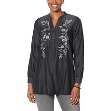 SoftCell by Diane Gilman Embroidered Tunic