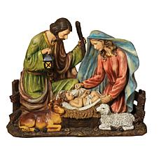 Solar-Operated Holy Family Figurine