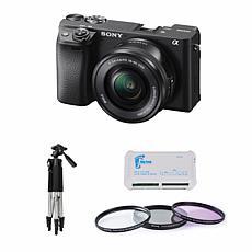 Sony Alpha a6400 24MP Mirrorless Digital Camera w/16-50mm Lens Bundle