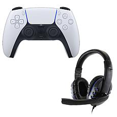 Sony DulalSense Controller with Universal Headset for PS5