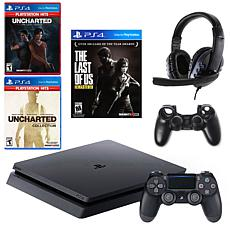 Sony PlayStation 4 1TB Console with with 3 Games & Accessory Bundle