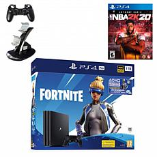 "Sony PlayStation 4 Pro 1TB Fortnite Neo Versa Console with ""NBA 2K20"""