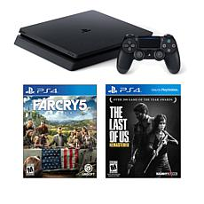 "Sony PlayStation 4 PS4 Slim 1TB Console +""Far Cry 5"", ""The Last of Us"""