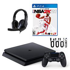 Sony PlayStation 4 Slim 1TB Console with NBA 2K21 & Universal Headset