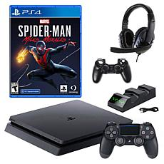 Sony PlayStation 4 Slim 1TB Console with Spiderman: Miles Morales Game