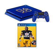 Sony PlayStation 4 Slim 1TB Days of Play Blue Console w/Madden NFL 19