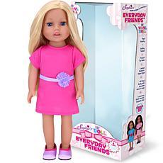 """Sophia's by Teamson Kids 18"""" Chloe Blonde Vinyl Doll Hot Pink Dress"""