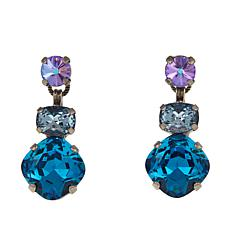 Sorrelli Jewelry Blue and Multi Crystal Drop Earrings