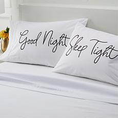 South Street Loft 100% Cotton Printed 2-pk Pillowcases - Good Night