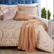 South Street Loft Bedding Set with Plush Throw & Decorative Pillows