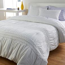 South Street Loft Ruched Rosette Comforter Set