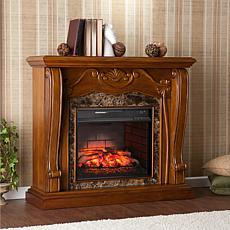Southern Enterprises Cardona Electric Fireplace -Walnut