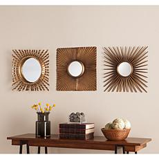Southern Enterprises Claude 3pc Decorative Mirror Set