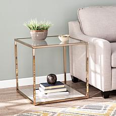 Southern Enterprises Edissen Faux Marble End Table