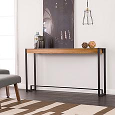 Southern Enterprises Holly & Martin Macen Console- Weathered Oak/Black