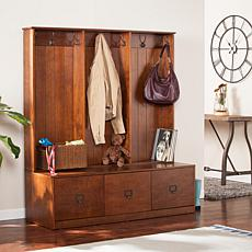 Southern Enterprises Owen Entryway Storage Unit - Whiskey Maple