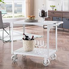 Southern Enterprises Pinchara Bar Cart - White