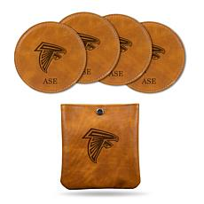 Sparo Brown Atlanta Falcons 4-pack Personalized Coaster Set