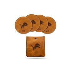 Sparo Brown Detroit Lions 4-pack Personalized Coaster Set