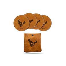 Sparo Brown Houston Texans 4-pack Personalized Coaster Set