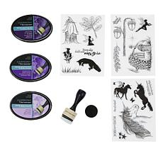 Spectrum Noir Ink Pads & Silhouette Stamps - Fantasy Land