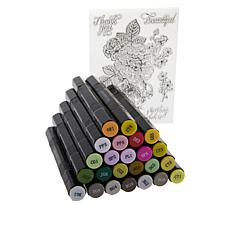 Spectrum Noir Markers and Clear Stamps Set