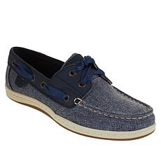 94017adb1bb4 Sperry Koifish Leather Sparkle Chambray Boat Shoe
