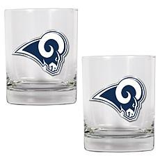 St. Louis Rams 2pc Rocks Glass Set