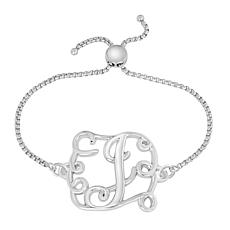 Stainless Steel Initial Chain Adjustable Bracelet