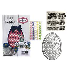 Stamps of Life Easter Egg Fold-It Card Stamps and Dies  for A2 Cards