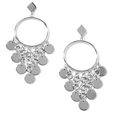 Stately Steel Drop Chandelier Stainless Steel Earrings