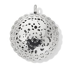 Stately Steel Filigree Disc Pendant