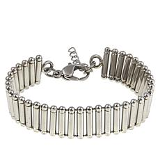 "Stately Steel Ladder-Chain 7-1/4"" Bracelet"